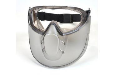 Pyramex Capstone Goggles w/ Face Shield - Gray frame, Clear Lens GG504TSHIELD