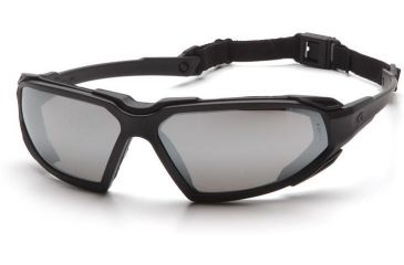 Pyramex Highlander Safety Glasses - Silver Mirror Anti-Fog Lens, Black Frame SBB5070DT