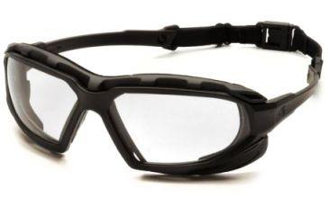 Pyramex Highlander-XP Safety Glasses, Black-Gray Frame & Clear Anti-Fog Lens SBG5010DT
