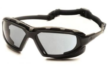 Pyramex Highlander-XP Safety Glasses, Black-Gray Frame & Gray Anti-Fog Lens SBG5020DT