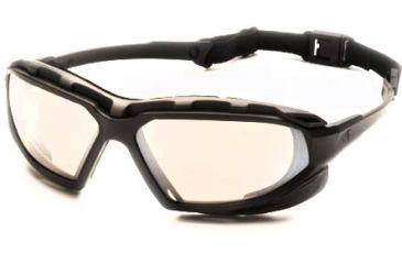 Pyramex Highlander-XP Safety Glasses, Black-Gray Frame & Indoor/Outdoor Mirror Anti-Fog Lens SBG5080DT