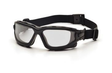 Pyramex I-Force Safety Glasses,Black Strap-Temples/Clear Anti-Fog Lens,Pack of 12 SB7010SDNT
