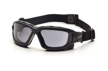 Pyramex I-Force Safety Glasses,Black Strap-Temples/Gray Anti-Fog Lens,Pack of 12 SB7020SDNT