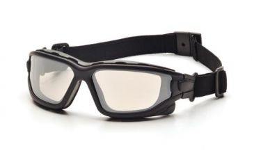 Pyramex I-Force Safety Glasses,Black Strap-Temples/Indoor/Outdoor Mirror Anti-Fog Lens,Pack of 12 SB7080SDNT