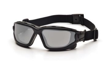 Pyramex I-Force Safety Glasses,Black Strap-Temples/Silver Mirror Anti-Fog Lens,Pack of 12 SB7070SDNT