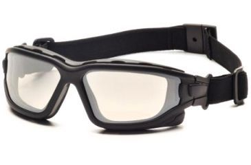 Pyramex I-Force Safety Glasses, Black Frame & Indoor/Outdoor Mirror Anti-Fog Lens SB7080SDT
