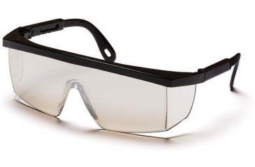 Pyramex Integra Safety Glasses - Indoor/Outdoor Mirror Lens, Black Frame SB480S
