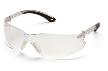 Pyramex Itek Safety Glasses, Clear Frame/Clear Lens with Adjustable Temples S5810SADJ