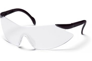 Pyramex Legacy Safety Eyewear - Clear Lens, Black Temples Frame SB2310S