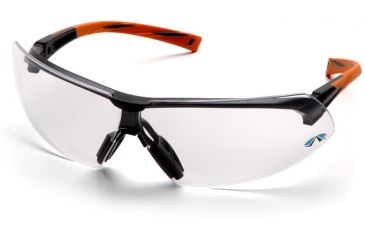 Pyramex Onix Safety Glasses - Clear Lens, Orange Frame SO4910S