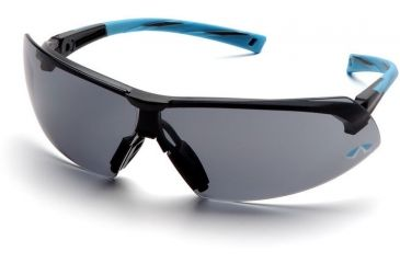 Pyramex Onix Safety Glasses - Gray Lens, Blue Frame SN4920S