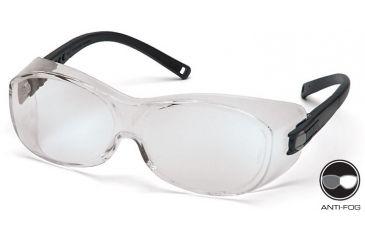 Pyramex OTS Safety Glasses - Clear Anti-Fog Lens, Black Frame S3510STJ
