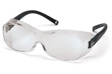 Pyramex OTS Safety Glasses - Clear Lens, Black Frame S3510SJ