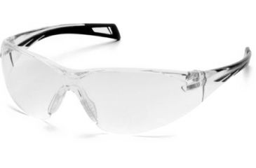Pyramex PMXSlim Safety Glasses, Matte Black Frame & Clear Anti-Fog Lens SB7110ST