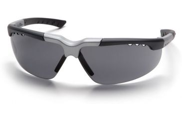 Pyramex Reatta Safety Glasses - Gray Lens, Black-Silver Frame SBS4820D