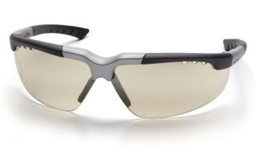 Pyramex Reatta Safety Glasses - Indoor/Outdoor Mirror Lens, Black-Silver Frame SBS4880D