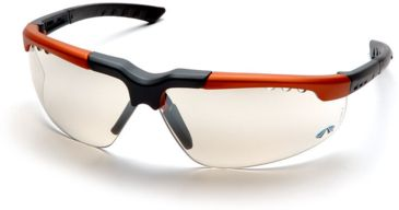 Pyramex Reatta Safety Glasses - Indoor/Outdoor Mirror Lens, Orange-Charcoal Frame SOC4880D