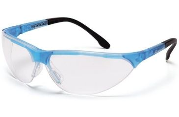 Pyramex Rendezvous Safety Eyewear - Clear Lens, Crystal Blue Frame SCB2810S