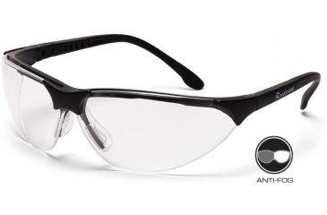 Pyramex Rendezvous Safety Glasses - Clear Anti-Fog Lens, Black Frame SB2810ST