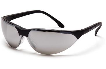 Pyramex Rendezvous Safety Glasses - Silver Mirror Lens, Black Frame SB2870S
