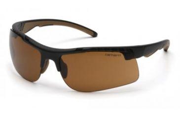 Pyramex Rockwood Safety Glasses, Sandstone Bronze Anti-fog Lens w/ Black Frame CHB718DTCS