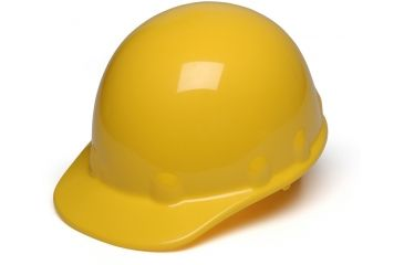Pyramex Sleek Shell Cap Style 4 Point Ratchet Suspension Hard Hat - Yellow HPS14130
