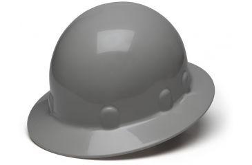 Pyramex Sleek Shell Full Brim 4 Point Ratchet Suspension Hard Hat - Gray HPS24112