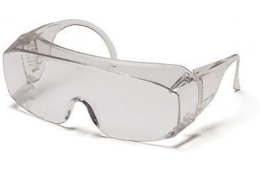 Pyramex Solo Safety Glasses - Clear Over Prescription Lens, Clear Jumbo Frame S510SJ