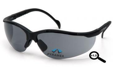 Pyramex V2 Readers Glasses - Gray + 1.5 Lens, Black Frame SB1820R15