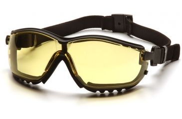Pyramex V2G Safety Eyewear - Amber Anti-Fog Lens, Black Frame GB1830ST