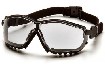 Pyramex V2G Safety Glasses - Clear Anti-Fog Lens, Black Frame GB1810ST