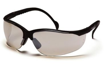 Pyramex Venture II Safety Glasses - Indoor/Outdoor Mirror Lens, Black Frame SB1880S