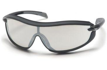 Pyramex XS3 Safety Glasses - Indoor/Outdoor Mirror Anti-Fog Lens, Black Frame SB4680ST