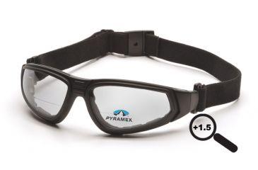 Pyramex XSG Reader Goggles/Glasses - Black Frame, Clear Anti-Fog + 1.5 Lens