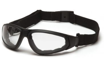 Pyramex XSG Safety Glasses - Clear Anti-Fog Lens, Black Frame GB4010ST