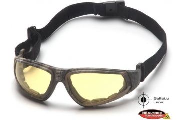 Pyramex XSG Shooting Glasses - Amber Ballistic Anti-Fog Lens, Real Tree HW Frame GC4030BST