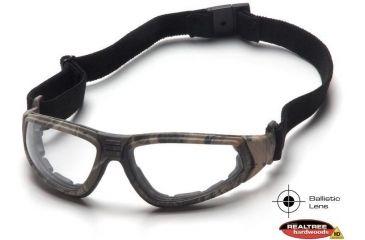 Pyramex XSG Shooting Glasses - Clear Ballistic Anti-Fog Lens, Real Tree HW Frame GC4010BST