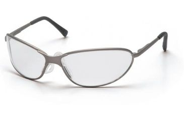 Pyramex Zone II Metal Safety Glasses - Clear Lens, Gun Metal Frame SGM3310E