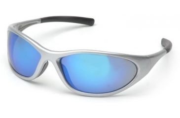 Pyramex Zone II Safety Glasses - Ice Blue Mirror Lens, Silver Frame SS3365E