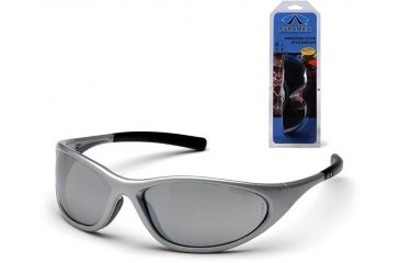 Pyramex Zone II Safety Glasses - Silver Mirror Lens, Silver Frame SS3370E3