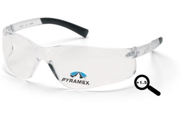 Pyramex Ztek Readers Glasses - Clear + 1.5 Lens, Clear Frame S2510R15