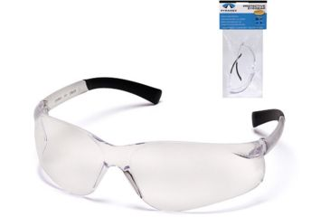 Pyramex Ztek Safety Glasses - Clear Lens, Clear Frame S2510S7
