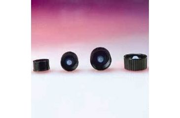 Qorpak Black Phenolic Screw Caps, Poly-Seal Liner, Qorpak 5027/12