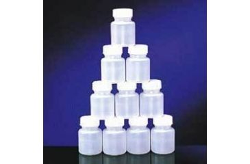 Qorpak Round Bottles, High-Density Polyethylene, Wide Mouth 7358G