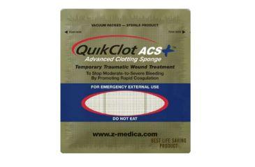 QuikClot ACS+ brand hemostatic agent  -  100 gram sponge - Pack of 25 100-CS 100-CS