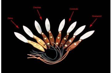 R. Murphy Skinner Chechen Wood Fixed knife, stainless skinner blade, Chechen wood handle RMSKNRCHR