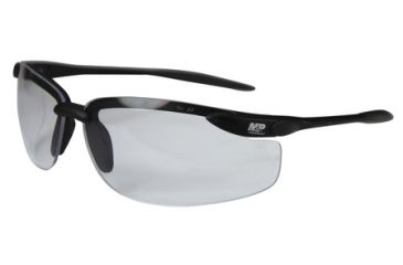 Radians M&P MP103 Shooting Glasses Clear Lens Black Half Frame With Zippered Case