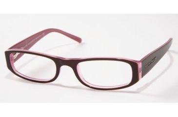Ralph Lauren RL 6002 Eyeglasses w/ Top Brown/White/Liliac Frame w/Non-Rx 48 mm Diameter Lenses, 5014-4818
