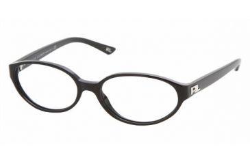 Ralph Lauren RL 6037 Eyeglasses, Black Frame w/Non Rx 50 mm Diameter Lenses, 5001 5015