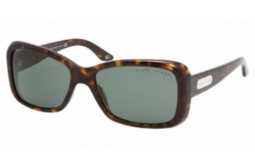 a97d19302bf Ralph Lauren RL8066 SV Prescription Sunglasses - Dark Havana Green Frame    55 mm Prescription Lenses